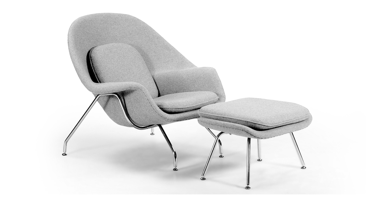 Fine Womb Chair Ottoman Cadet Grey Machost Co Dining Chair Design Ideas Machostcouk