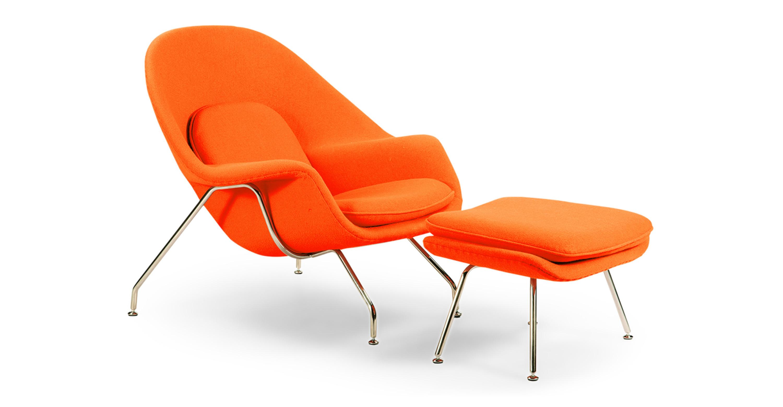 Remarkable Womb Chair Ottoman Orange Machost Co Dining Chair Design Ideas Machostcouk