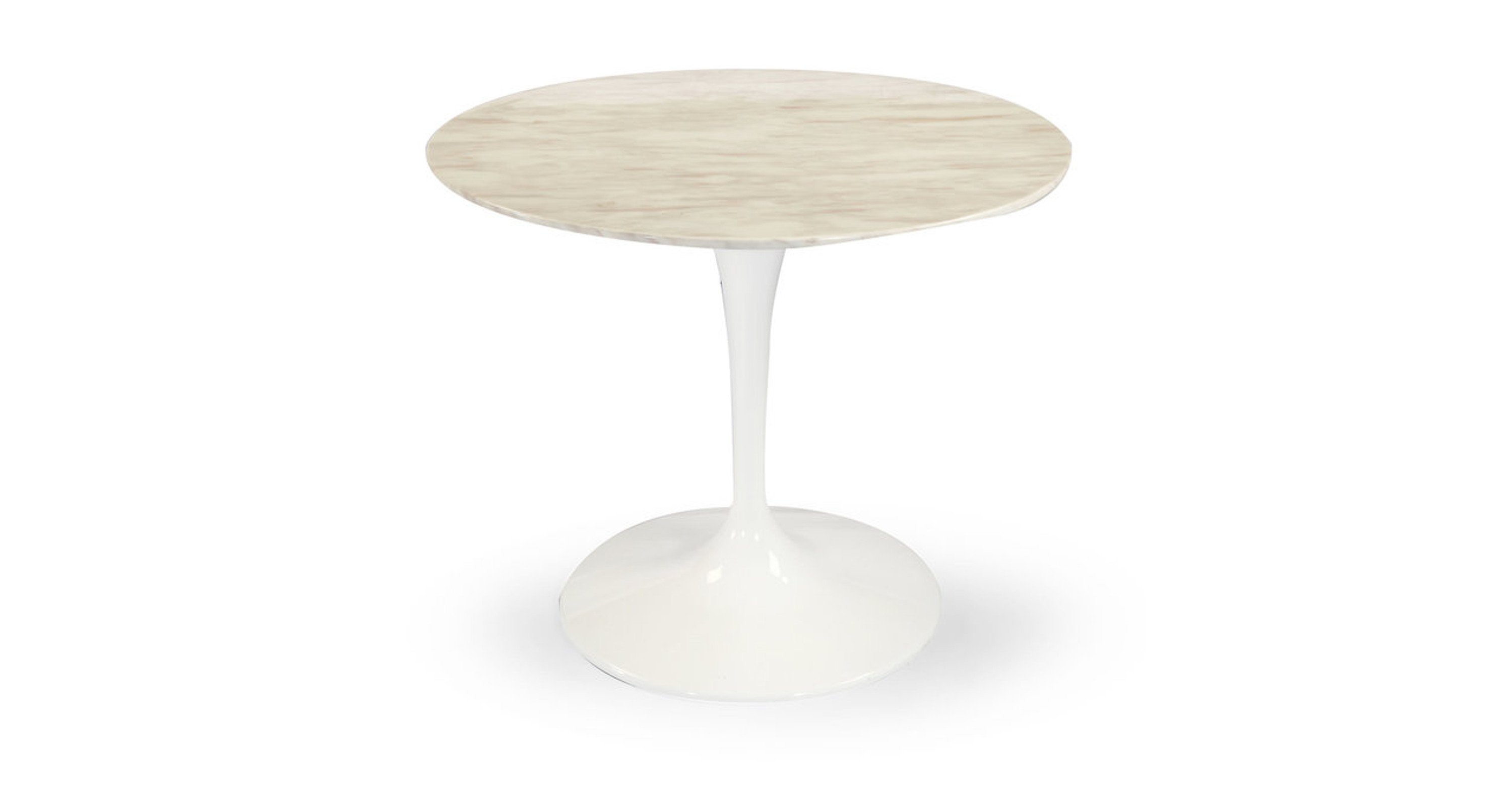 quality design 8662d 2899a Tulip Table, White Marble 44