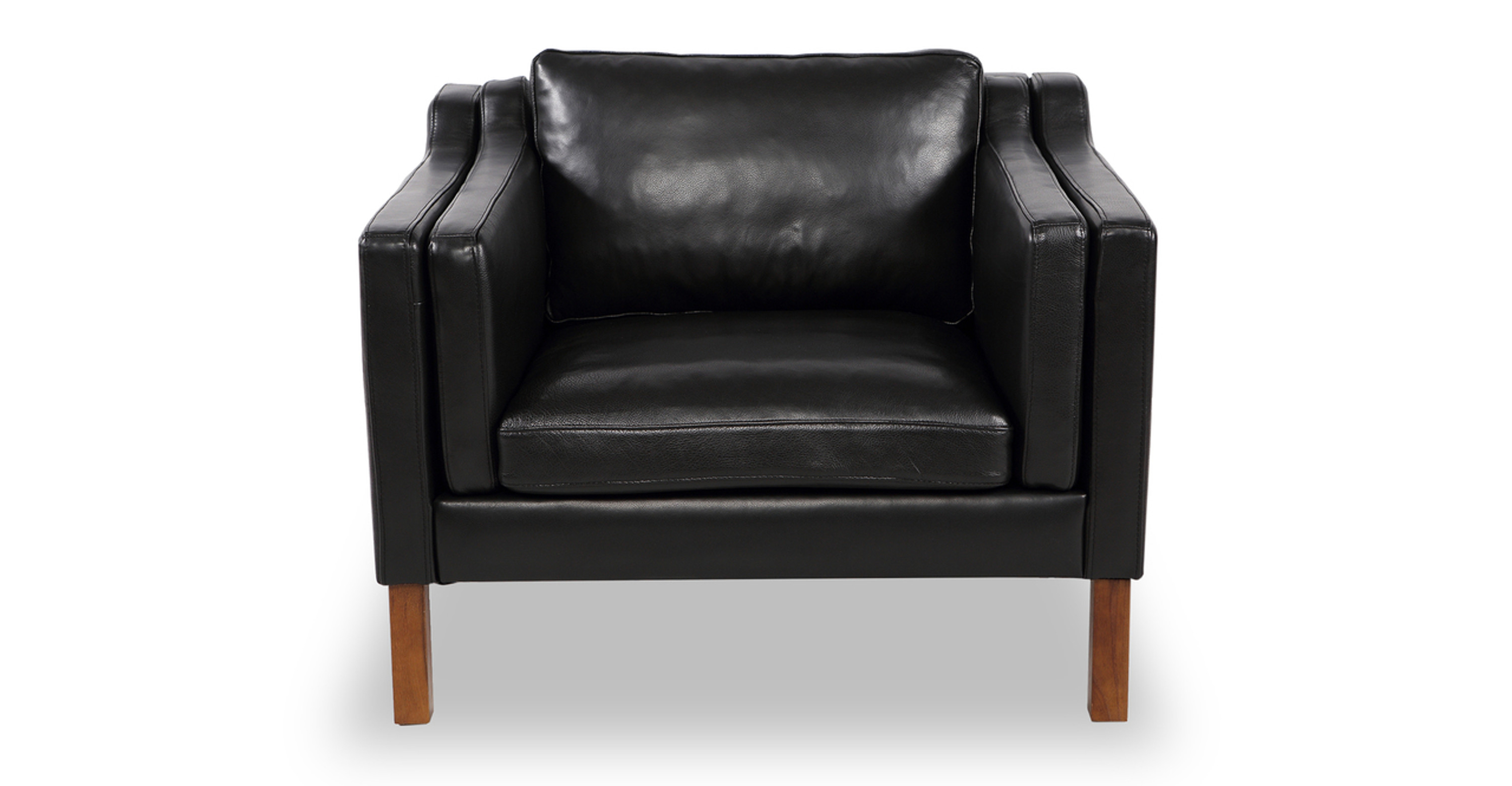 Terrific Monroe Chair Black Aniline Leather Caraccident5 Cool Chair Designs And Ideas Caraccident5Info