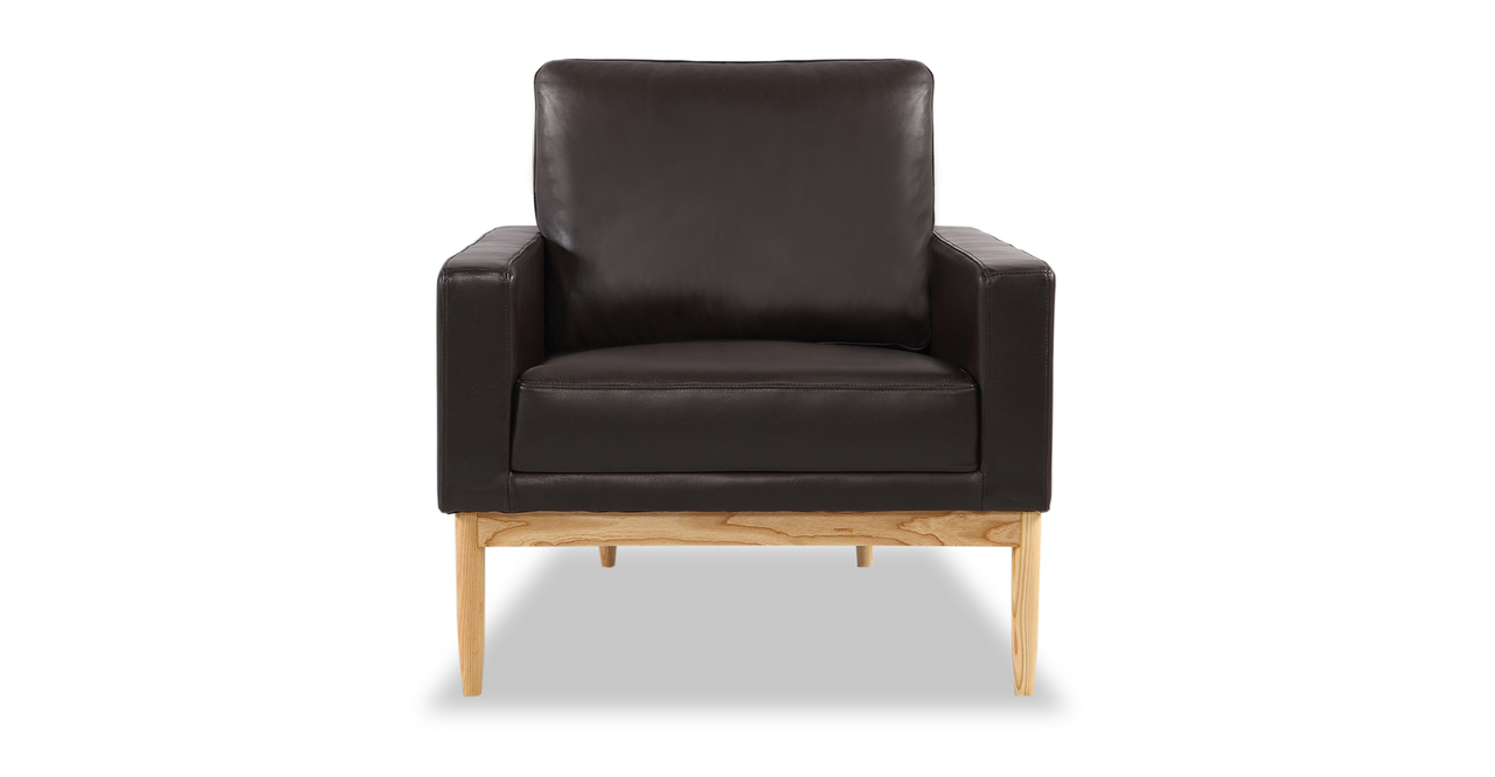 Fabulous Stilt Danish Mod Chair Brown Aniline Leather Ash Caraccident5 Cool Chair Designs And Ideas Caraccident5Info