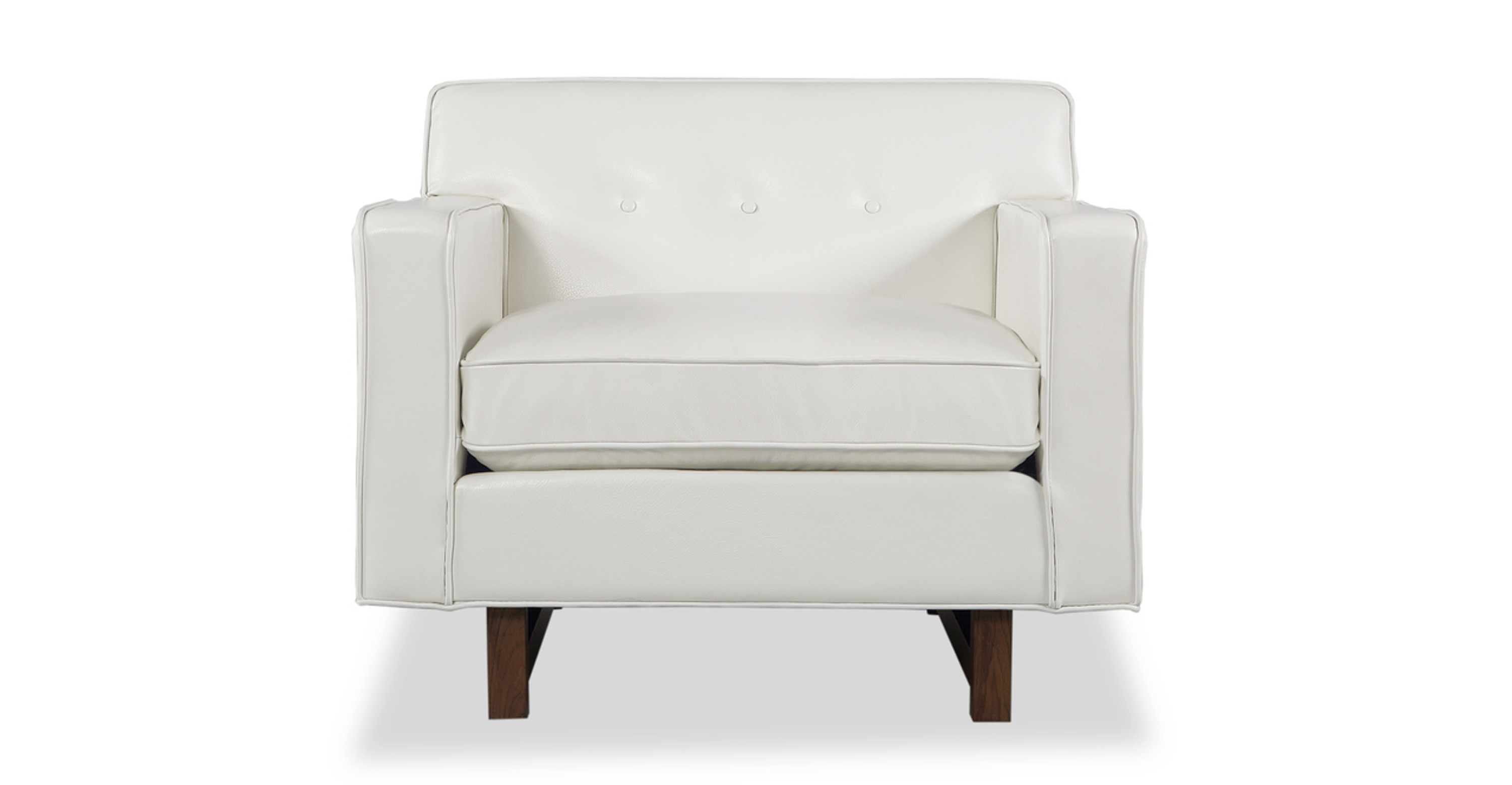 Marvelous Kennedy Chair White Aniline Leather Caraccident5 Cool Chair Designs And Ideas Caraccident5Info