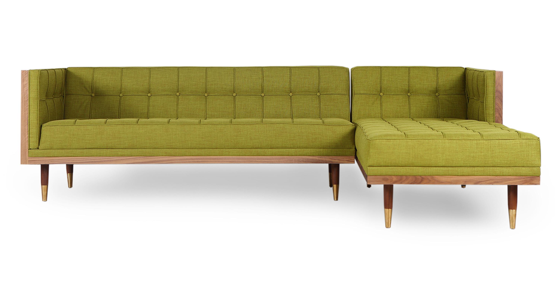 Astonishing Woodrow Box Sofa Sectional Right Walnut Atomic Moss Cjindustries Chair Design For Home Cjindustriesco