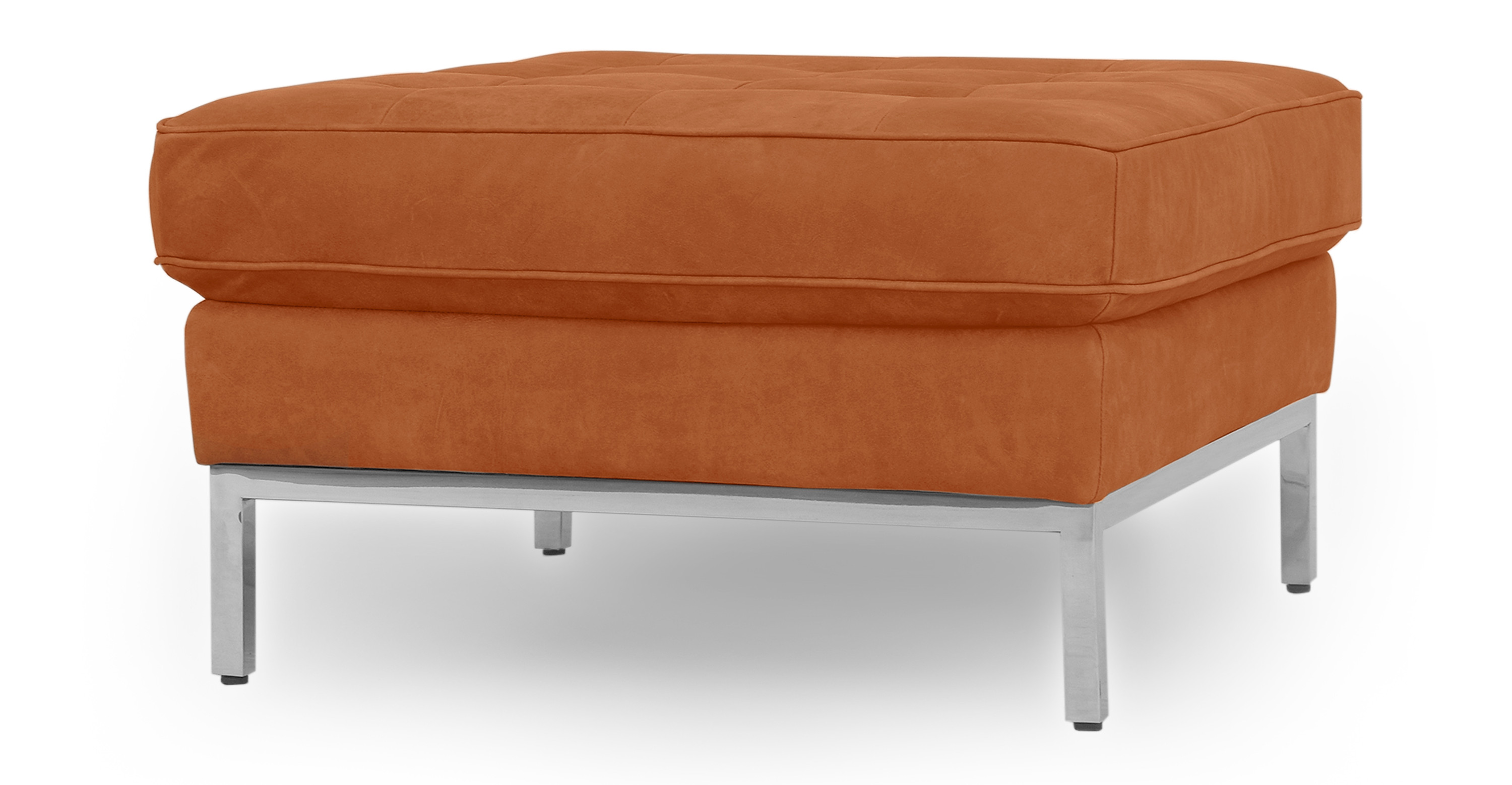 Excellent Florence 28 Leather Ottoman Pecan Full Grain Aniline Theyellowbook Wood Chair Design Ideas Theyellowbookinfo