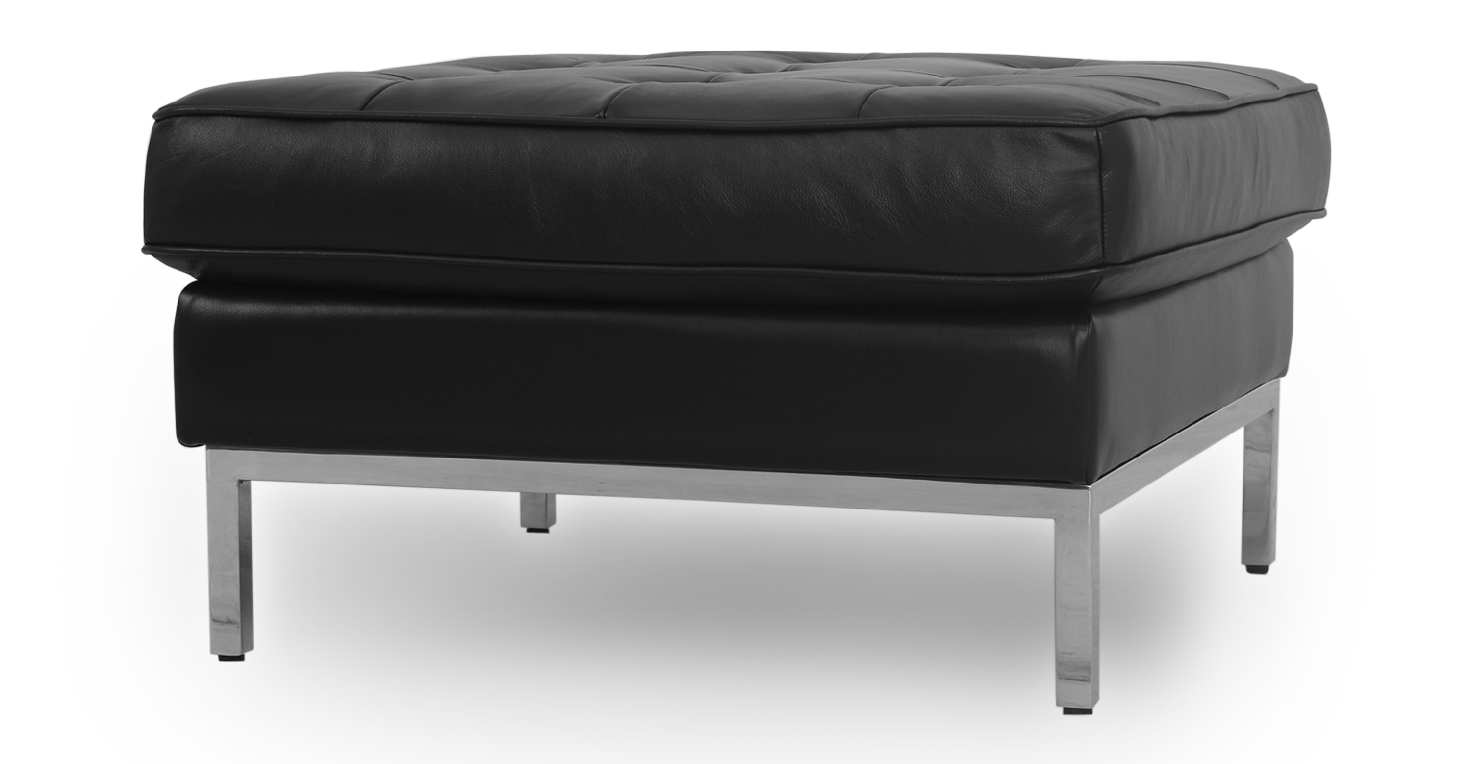 Fabulous Florence 28 Leather Ottoman Black Top Grain Aniline Forskolin Free Trial Chair Design Images Forskolin Free Trialorg