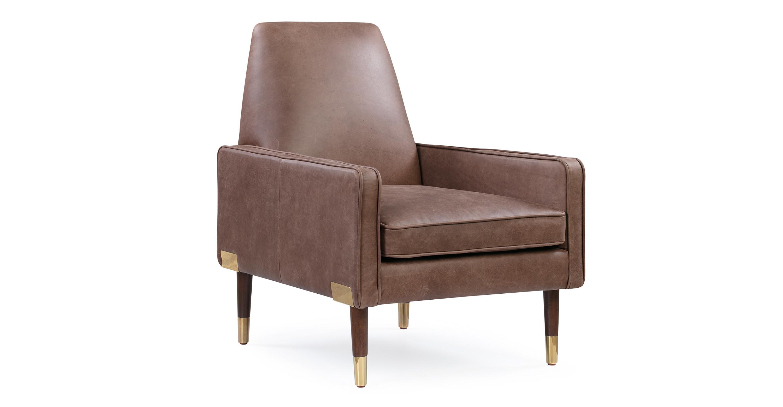 Enjoyable Draper 27 Leather Chair Mocha Top Grain Full Aniline Pdpeps Interior Chair Design Pdpepsorg