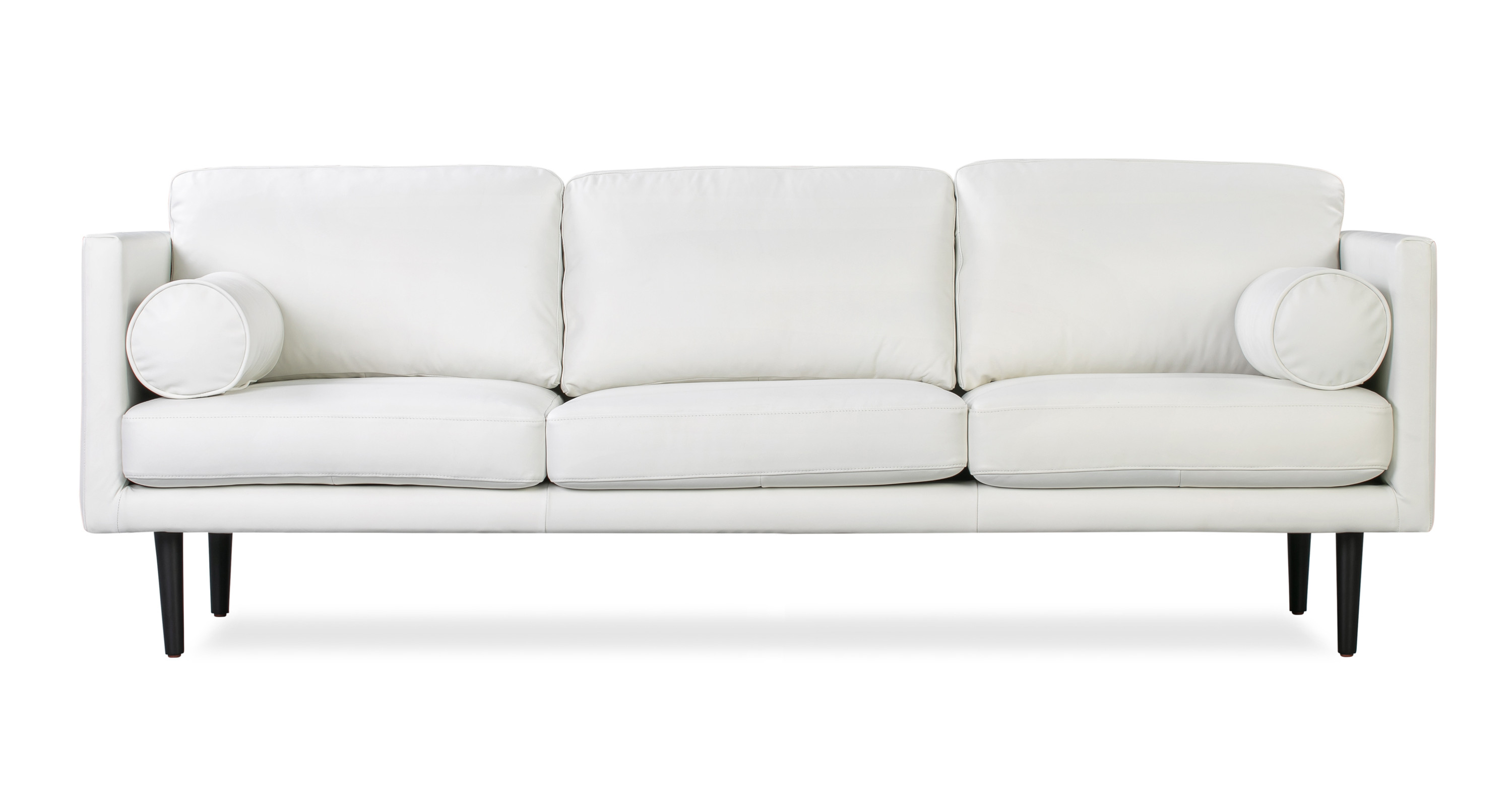 Magnificent Spectre 81 Leather Sofa White Top Grain Semi Aniline Pabps2019 Chair Design Images Pabps2019Com