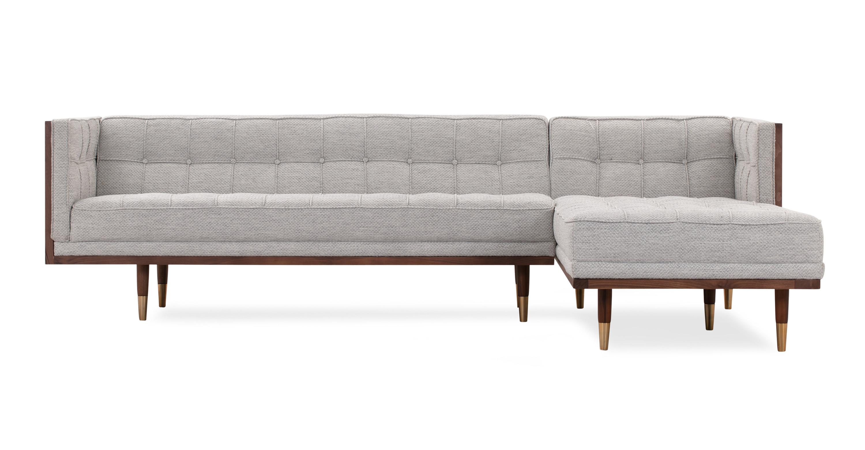 Outstanding Woodrow Box Sofa Sectional Right Walnut Neutra Cjindustries Chair Design For Home Cjindustriesco