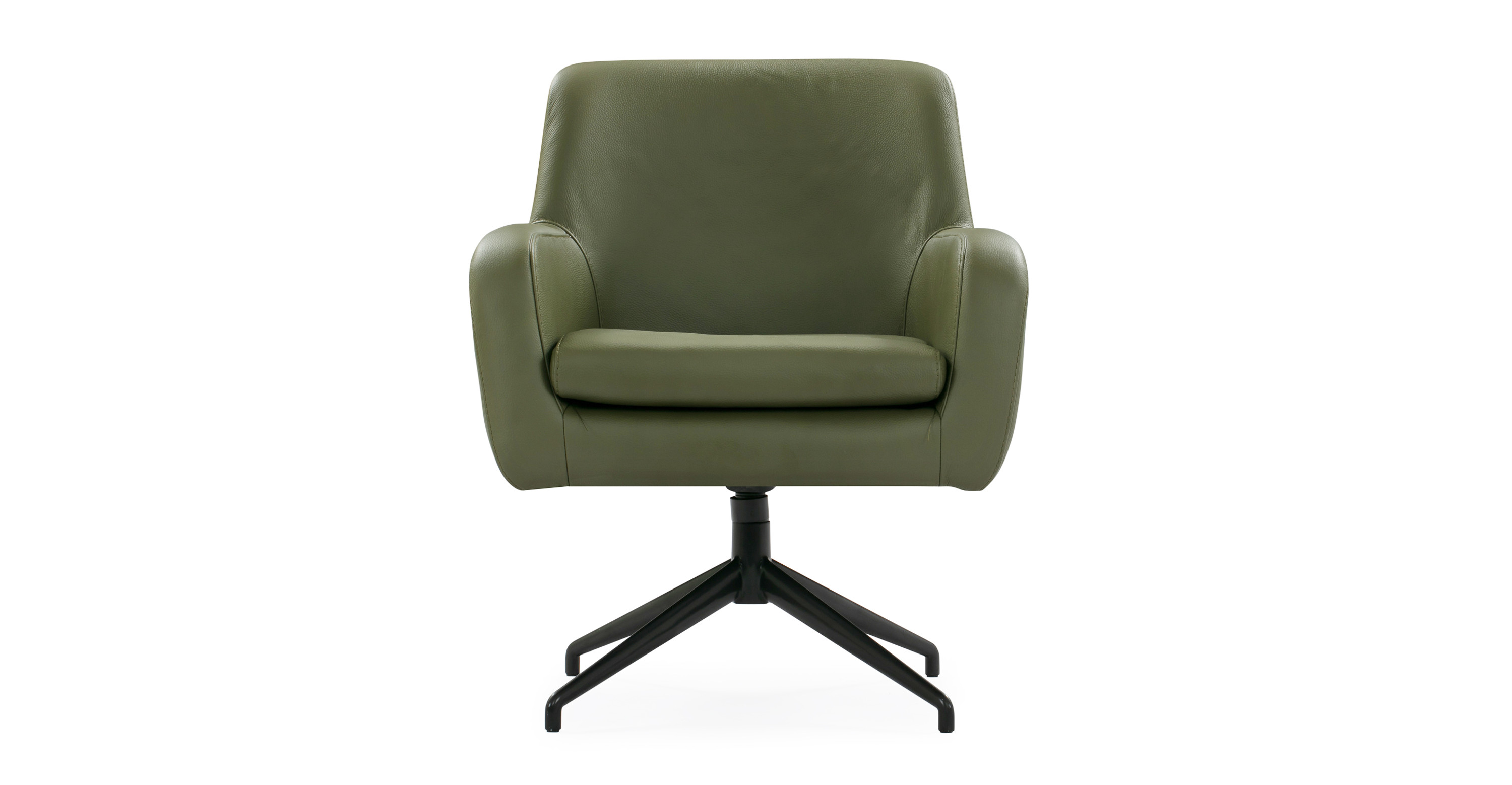 Awe Inspiring Cameron 25 Leather Chair Olive Top Grain Aniline Cjindustries Chair Design For Home Cjindustriesco