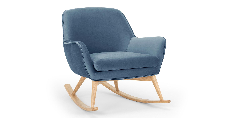 Cool Lullaby 31 Fabric Rocking Chair Celestial Velvet Lamtechconsult Wood Chair Design Ideas Lamtechconsultcom