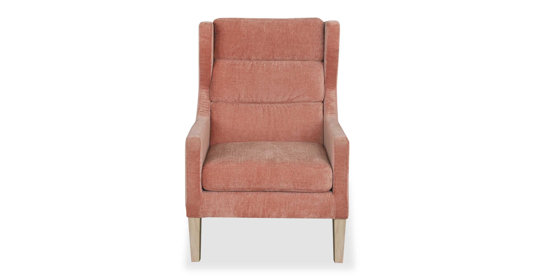 Borge 26 Wing Fabric Chair Peach Velvet Kardiel
