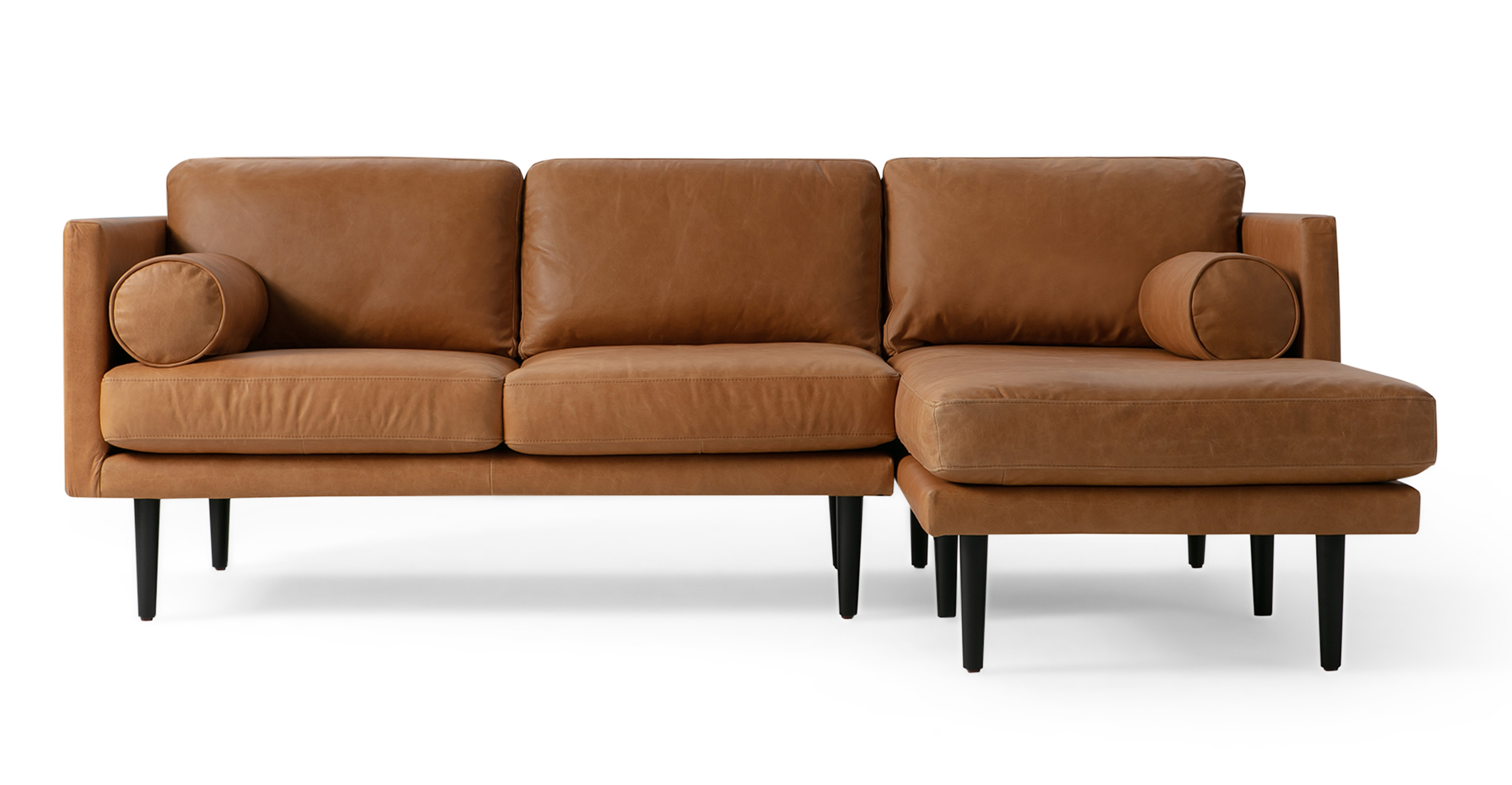 Image of: Spectre 81 Leather Sofa Sectional Right Milano Russet Kardiel