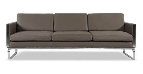Edward Sofa Leather, Grey Aniline - Kardiel