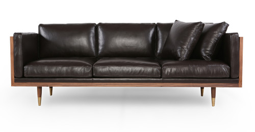Mid Century Modern Leather Sofas. Loft Modern leather couch loveseat ...
