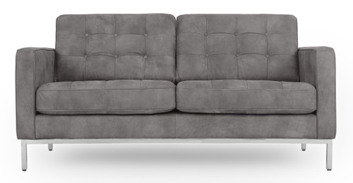 Florence knoll style loveseat 2 seater small sofa mid century modern