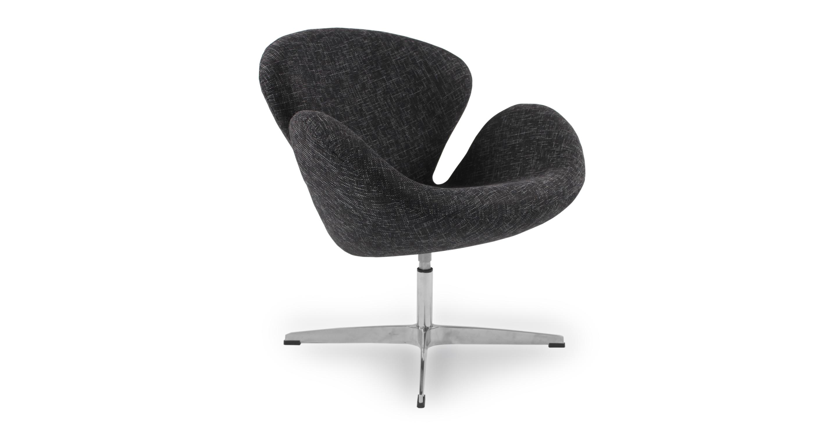 "Trumpeter 28"" Swivel Fabric Chair, Amethyst"