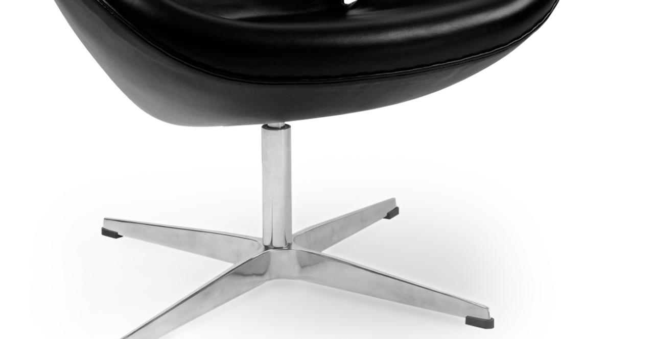 Trumpeter Chair, Black Premium Leather