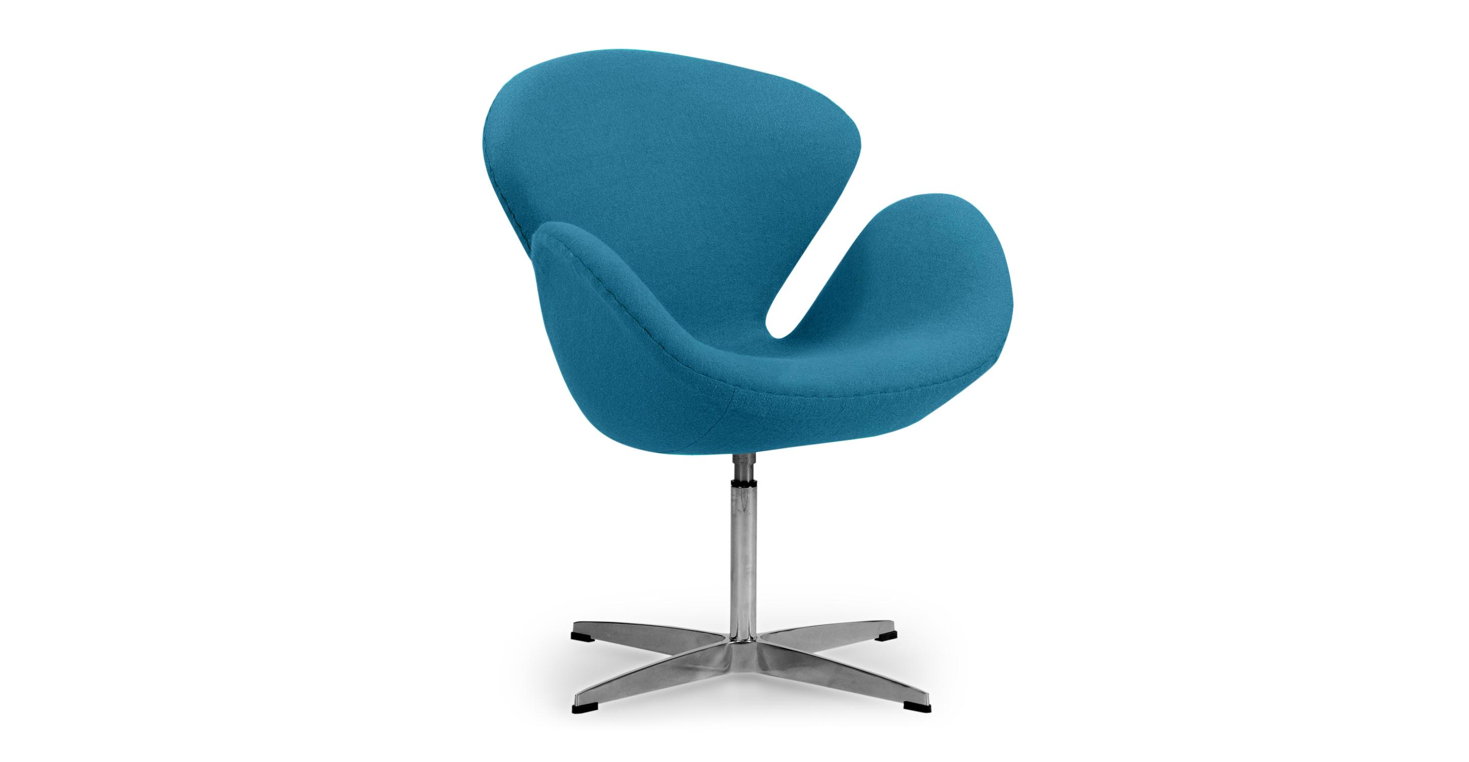 "Trumpeter 28"" Swivel Fabric Chair, Caribbean"