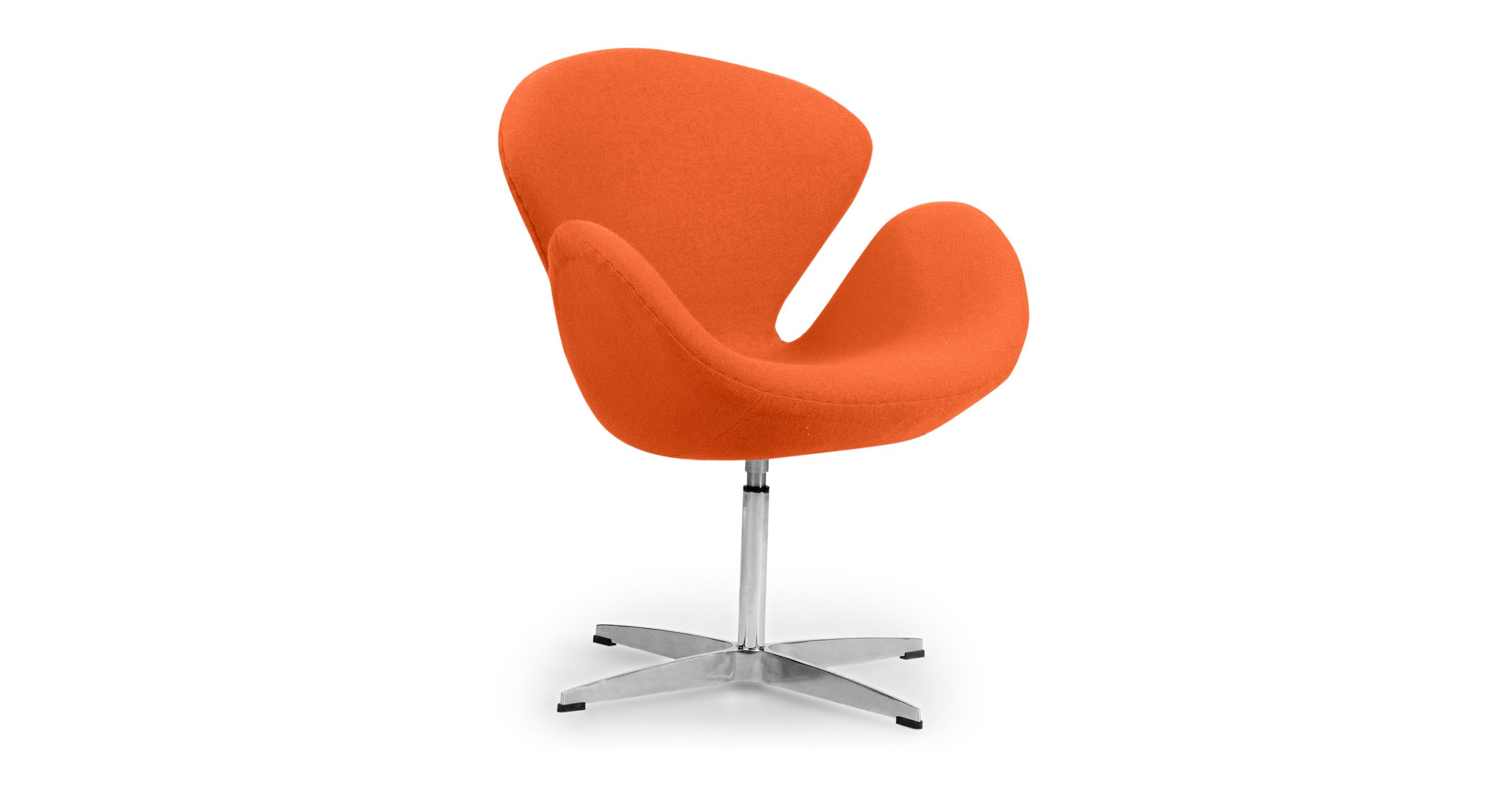 "Trumpeter 28"" Swivel Fabric Chair, Orange"