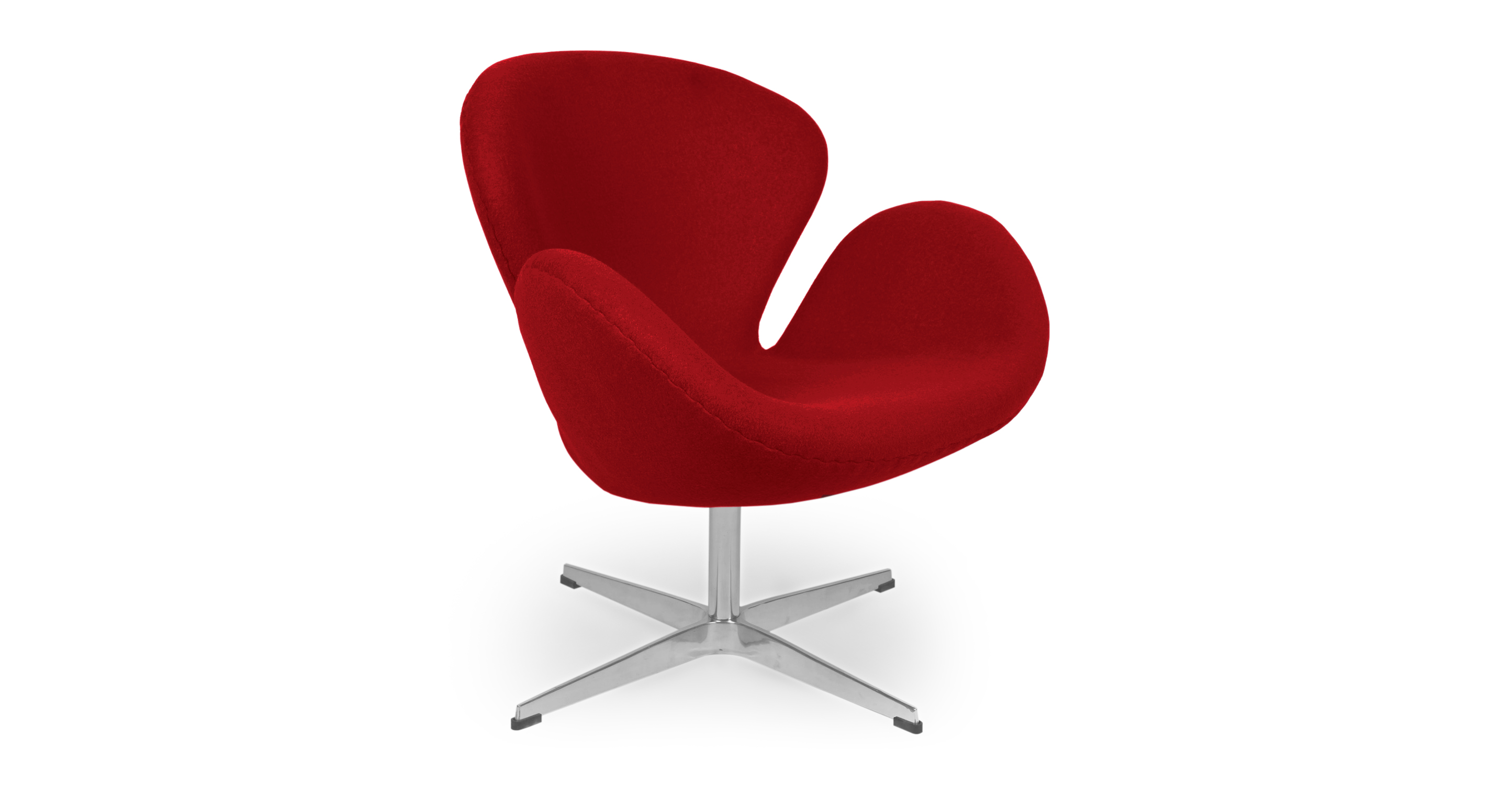 "Trumpeter 28"" Swivel Fabric Chair, Cherry Red"