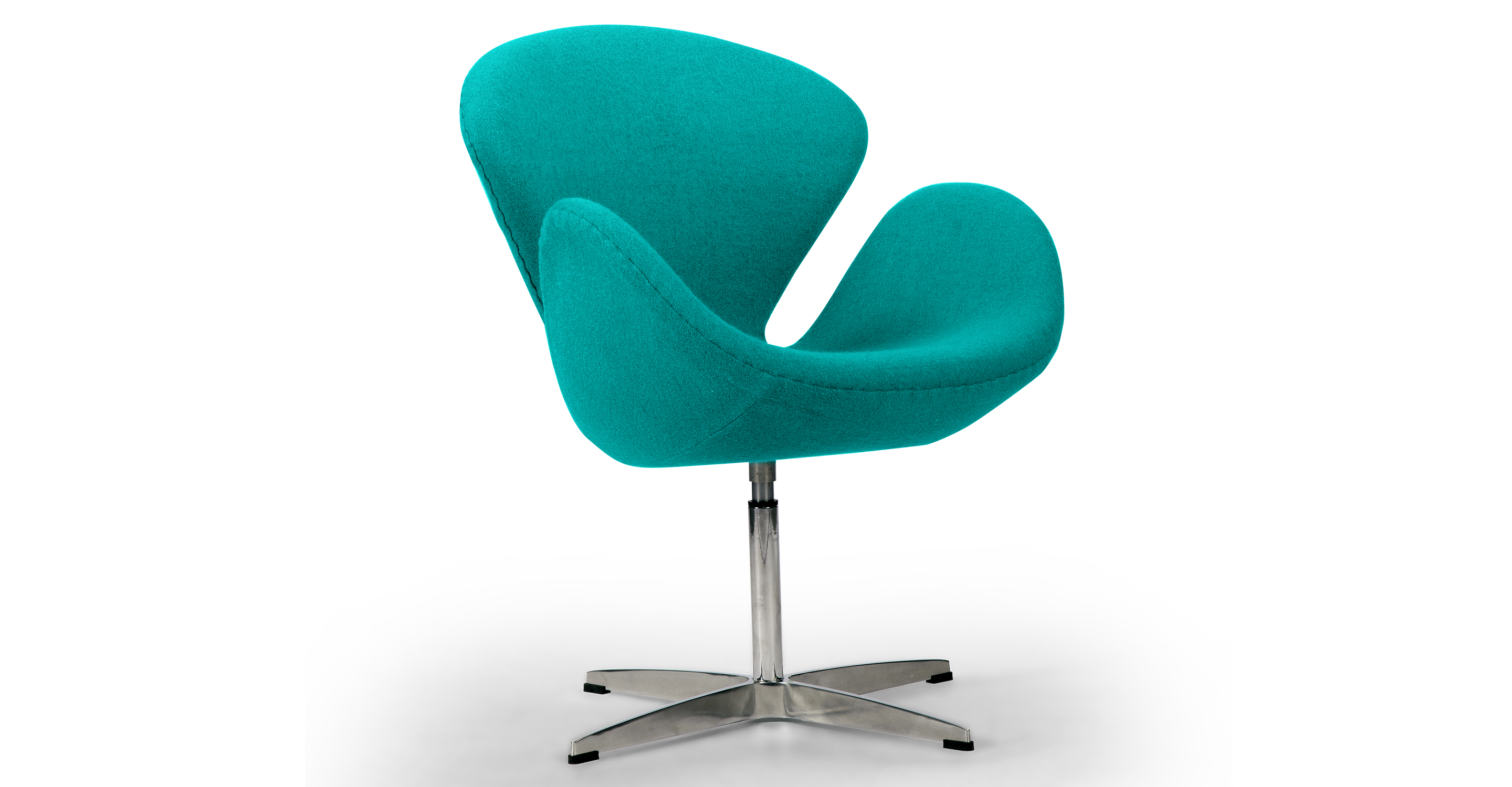 """Trumpeter 28"""" Swivel Fabric Chair, Turquoise"""