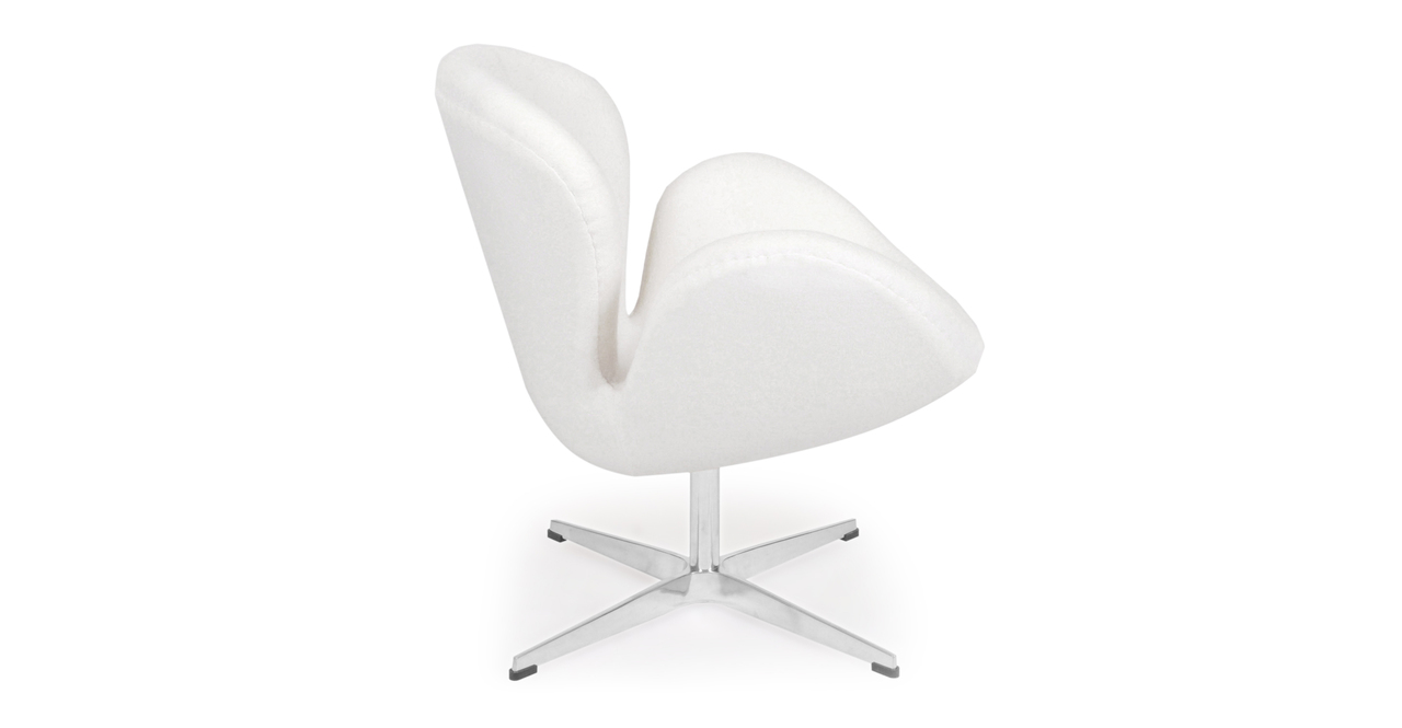 Trumpeter Chair, White Cashmere