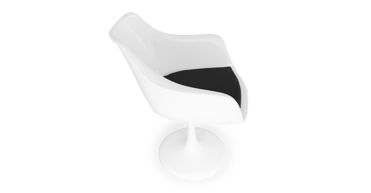 Tulip Armchair, Black Wool