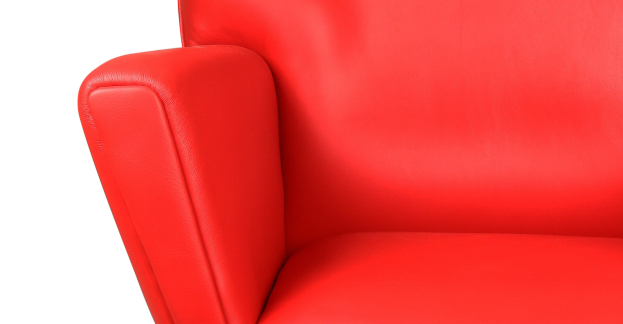 mid century modern wing chair