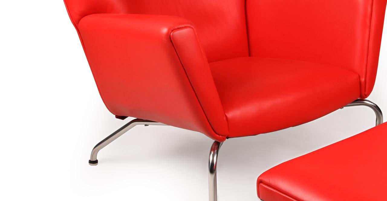 atomic ranch modern wing chair