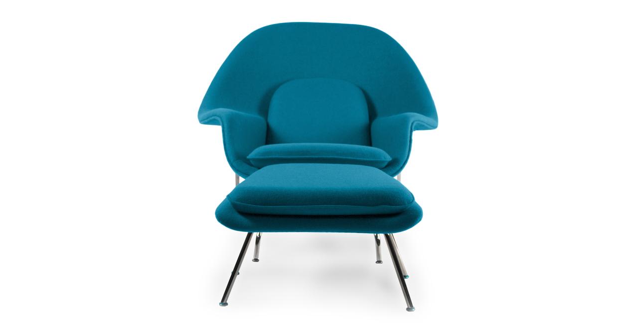 Womb Chair & Ottoman, Caribbean