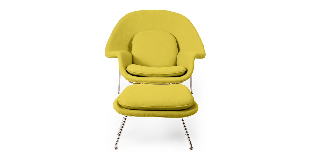 Womb Chair & Ottoman, Dijon