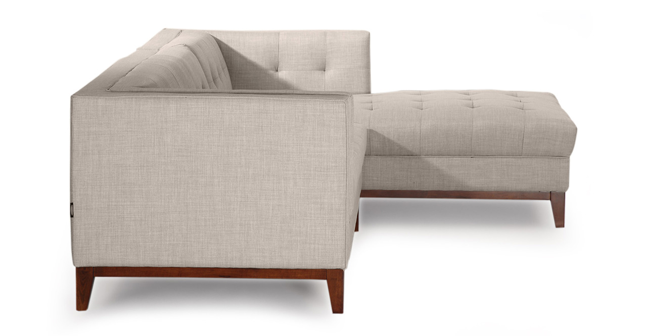 Harrison Chaise Sectional-Right Face, Dove Grey