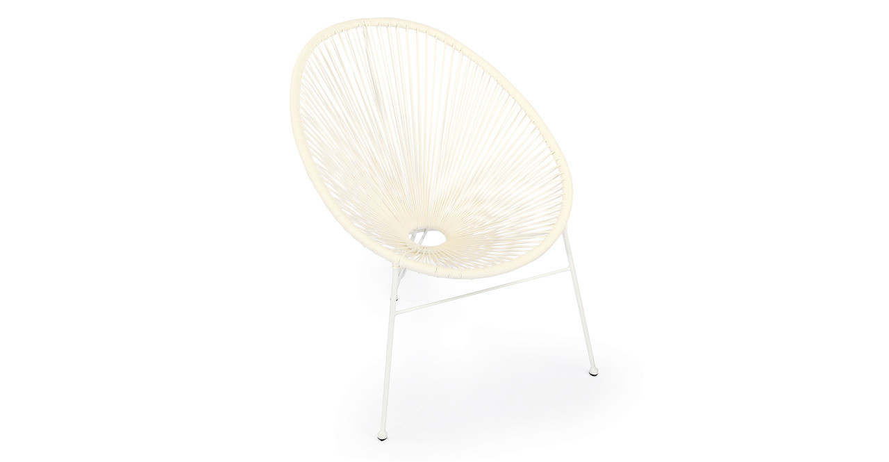 Acapulco Chairs & Table, 3pc White