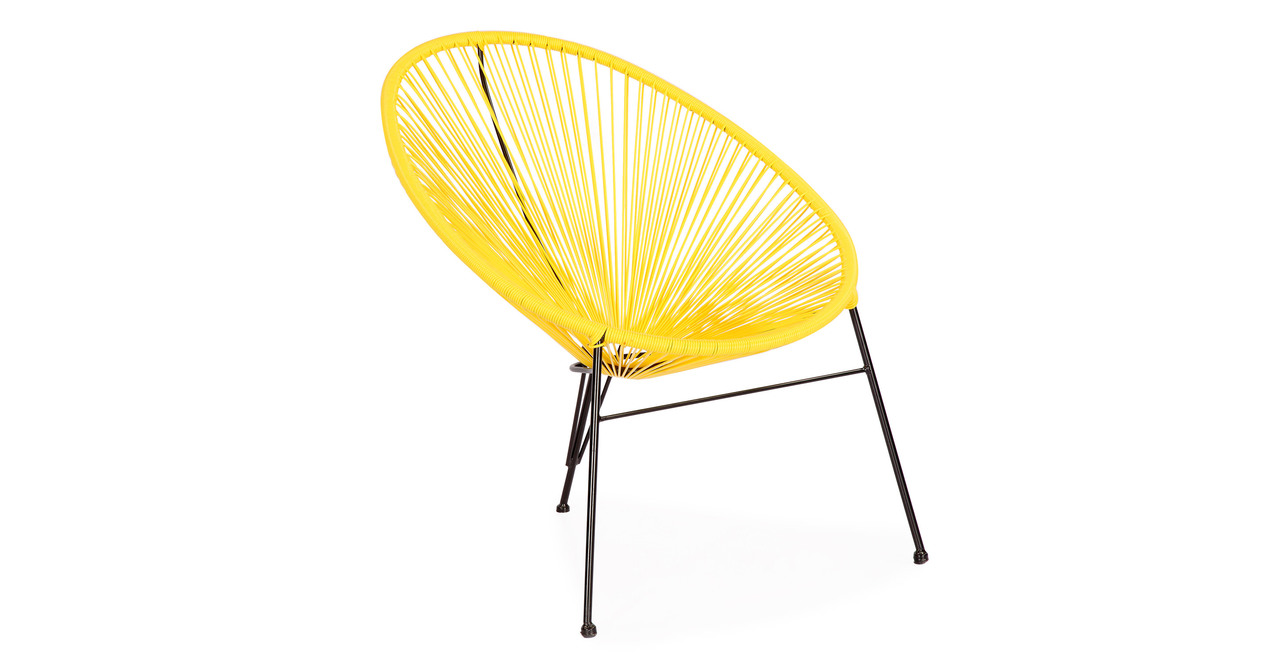Acapulco Chairs & Table, 3pc Yellow