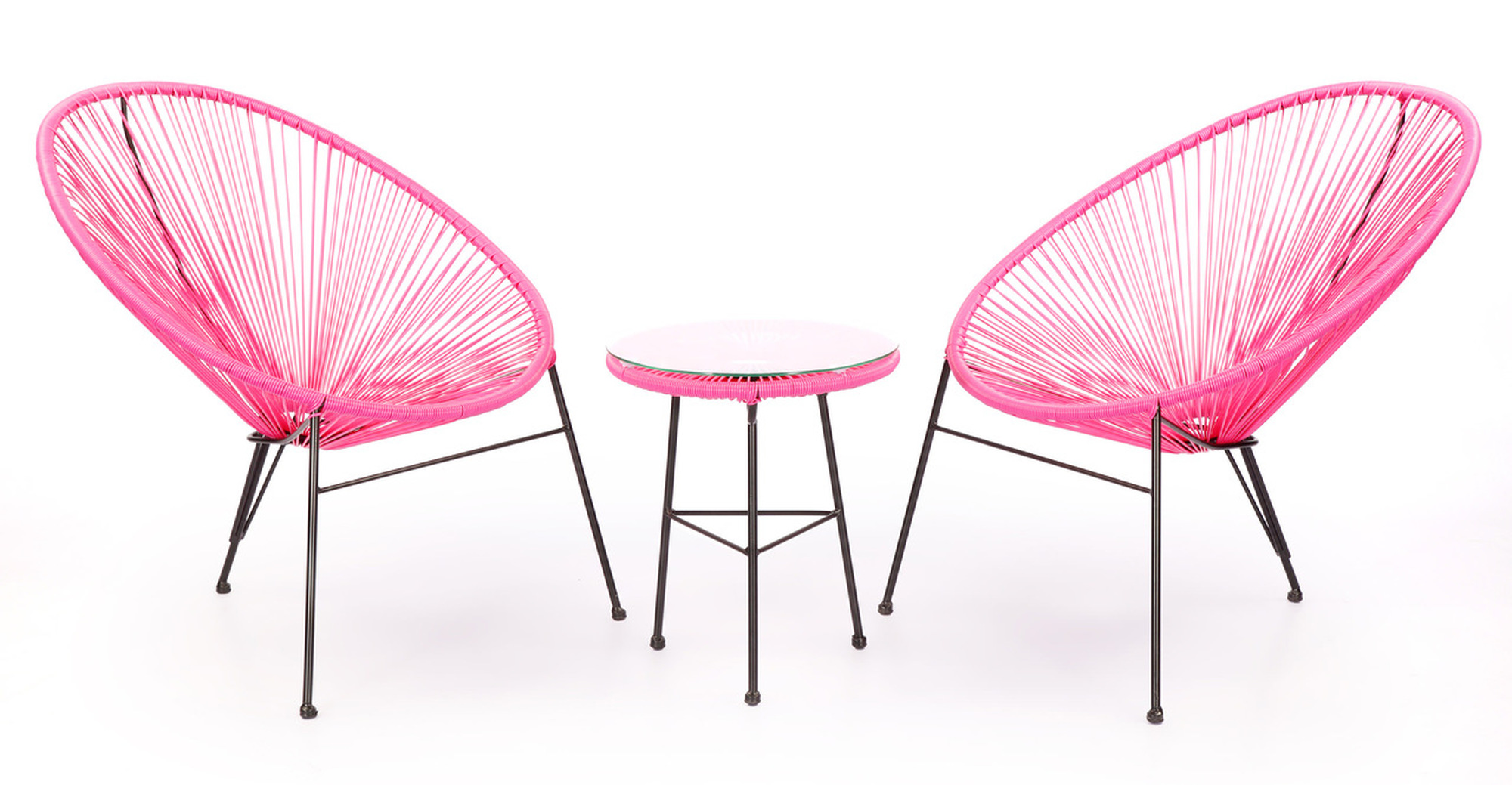 Acapulco Chairs & Table, Pink