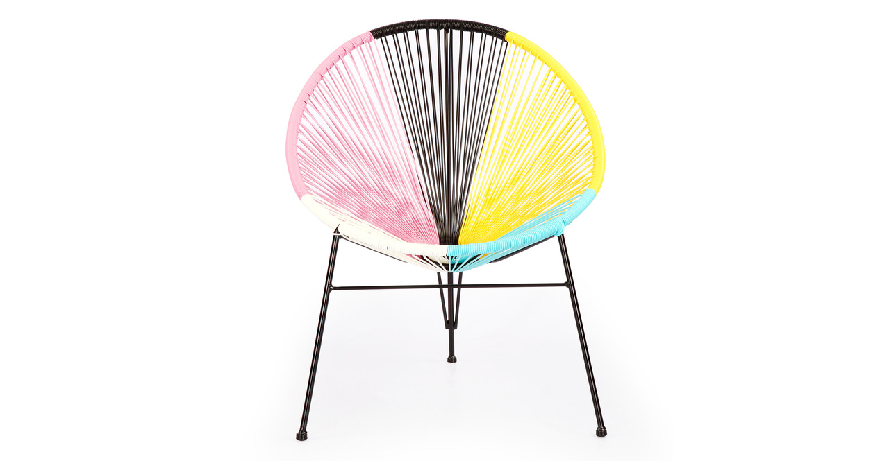 Acapulco Chairs & Table, 3pc Neapolitan Edition