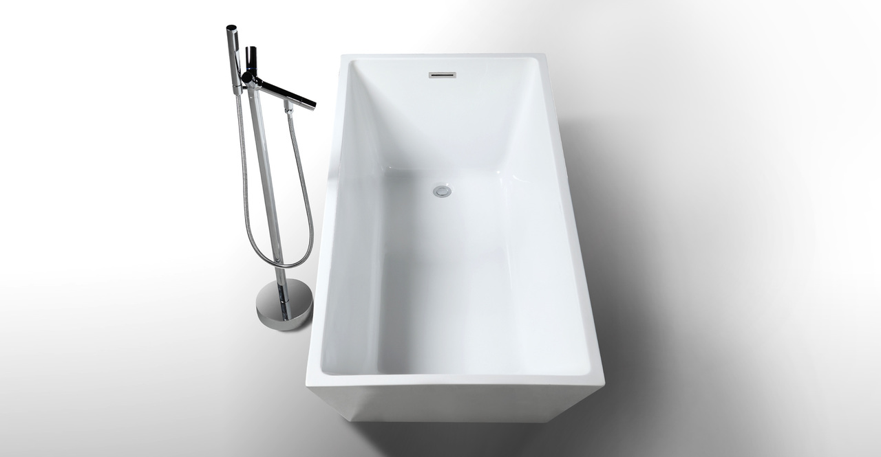 "Piraeus Bathtub, 59"" Rectangle Overflow"