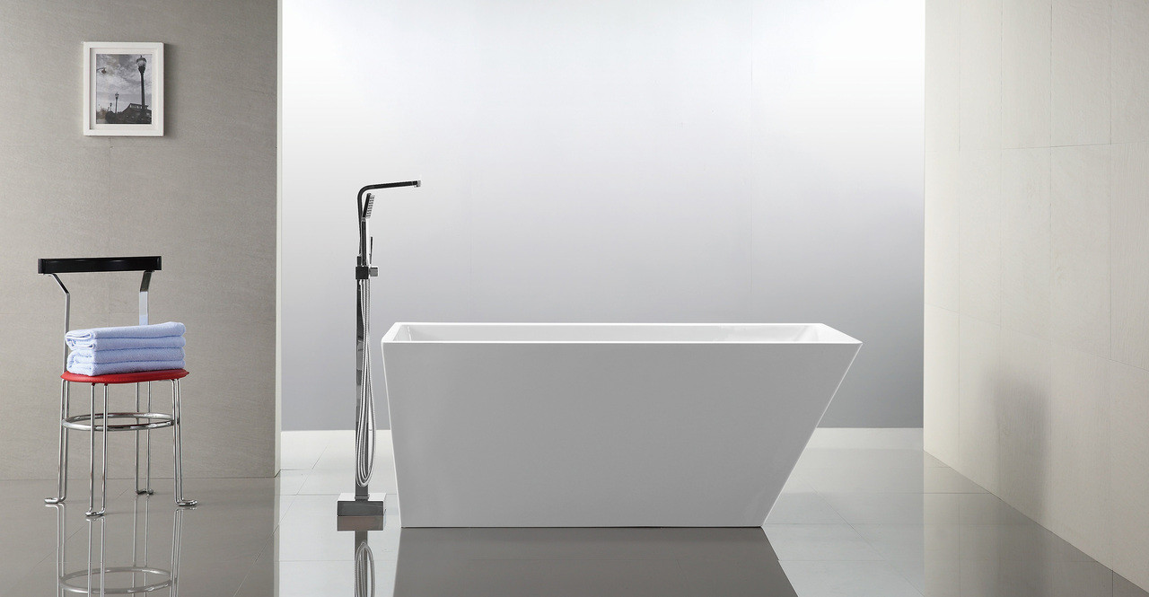 "Piraeus Bathtub, 59"" Rectangle Overflow"