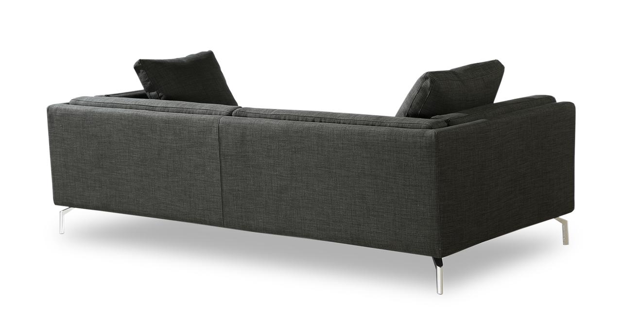 "Basil Loft 91"" Fabric Sofa, Midnight Oil"
