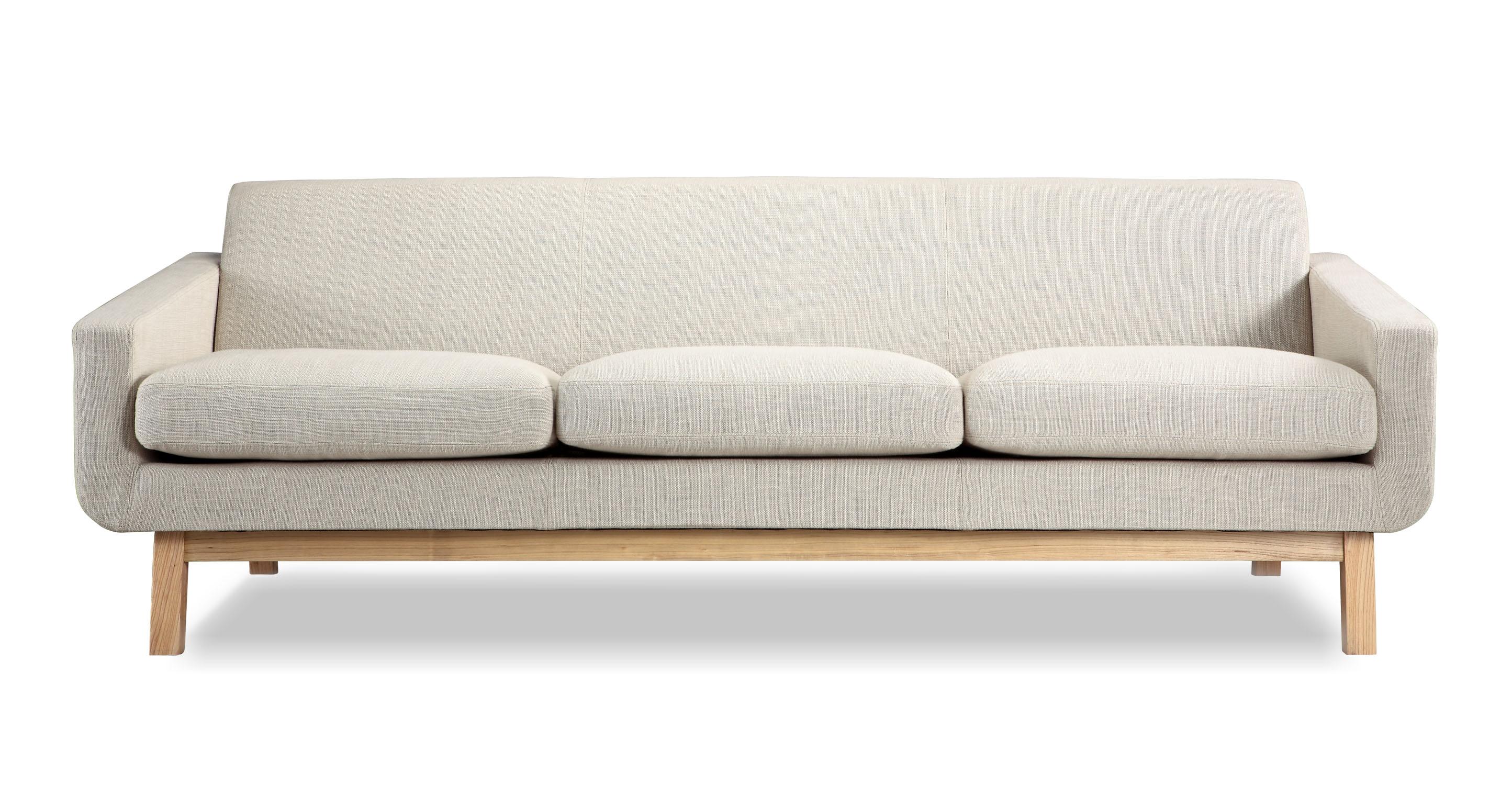 """Platform 80"""" Fabric Sofa, Ash/Urban Hemp"""