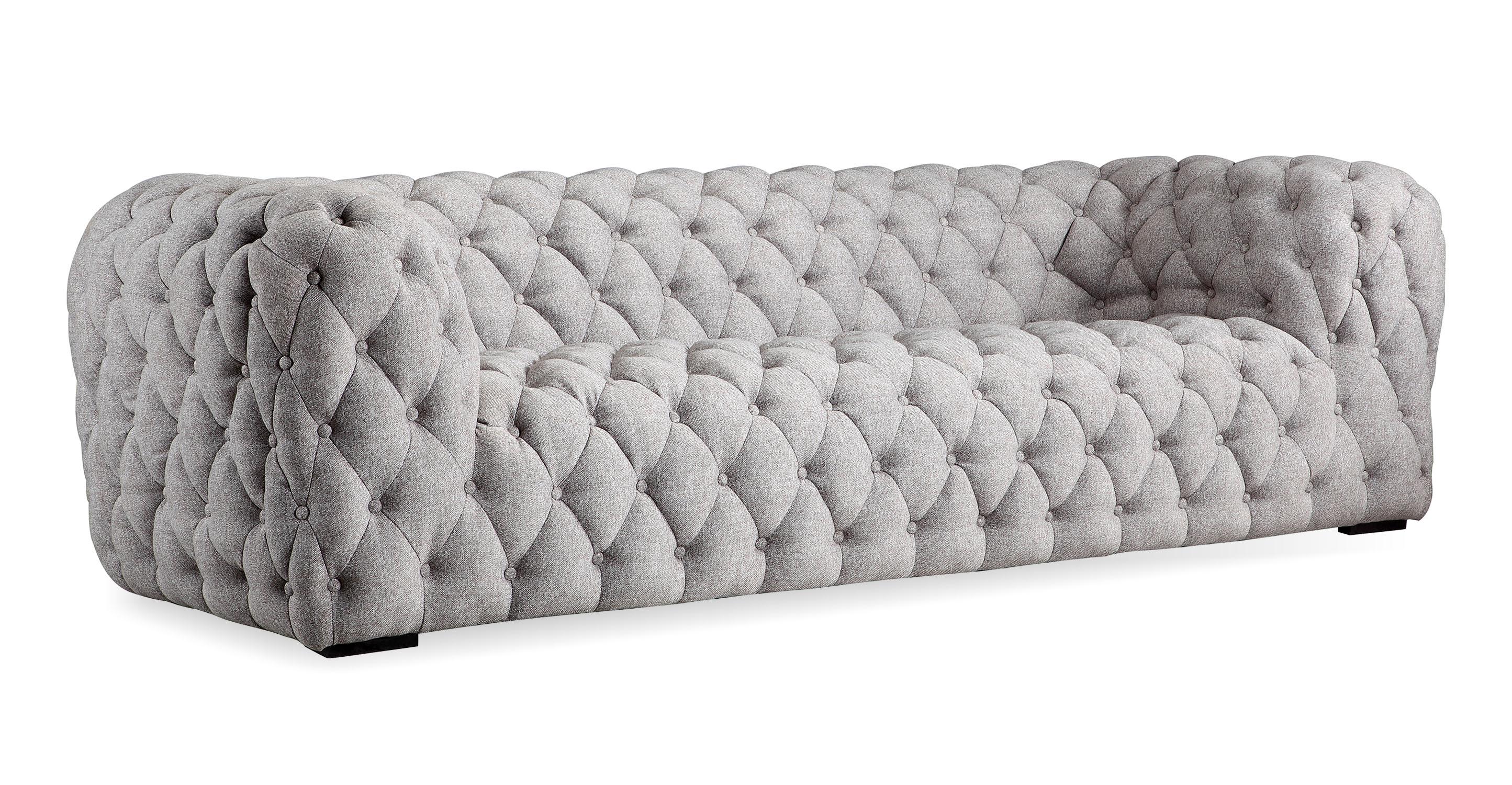 """Cumulus 98"""" Fabric Sofa, Urban Pebble"""