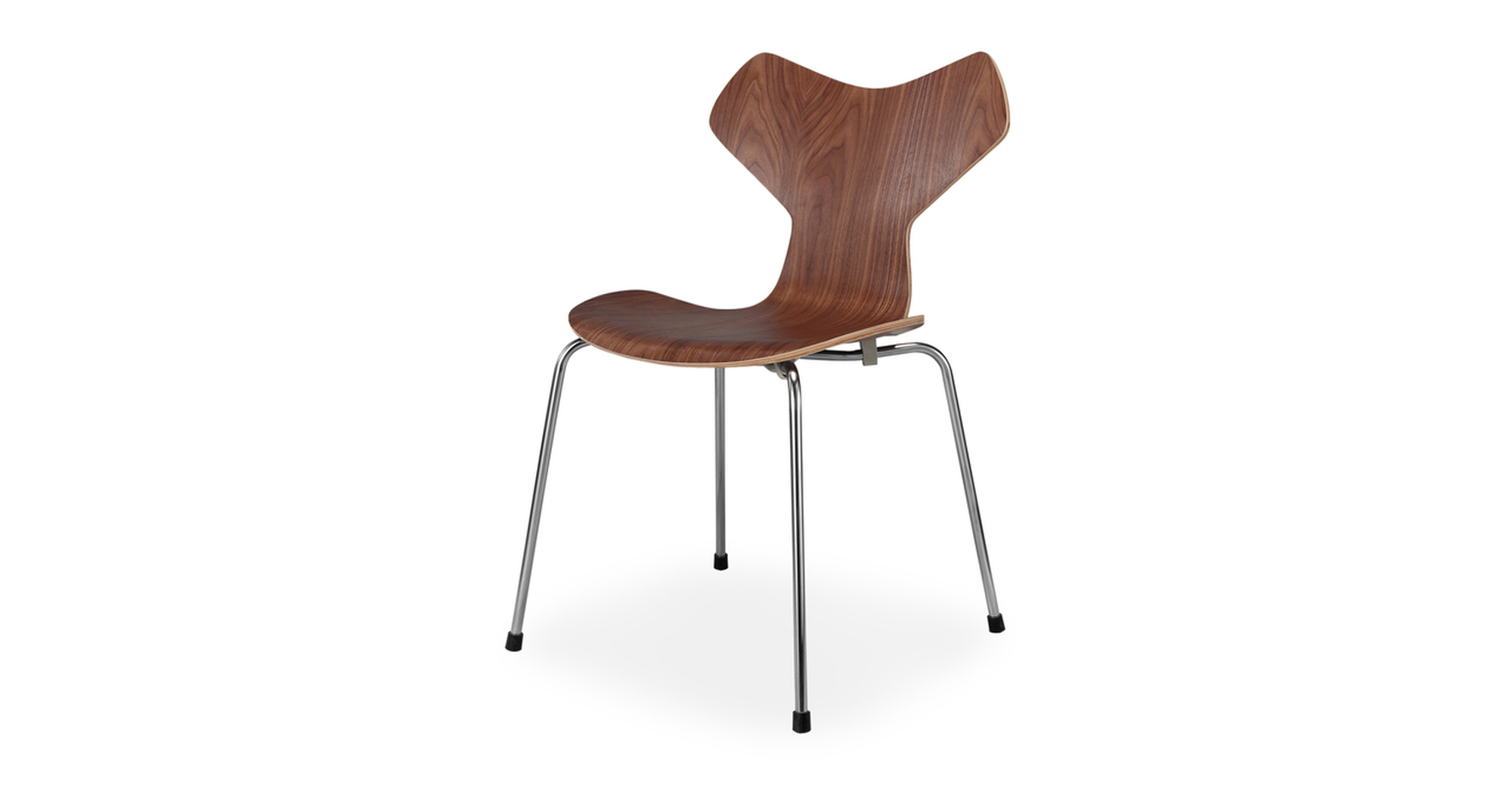"Art 20"" Dining Chair 2-Pc set, Walnut"