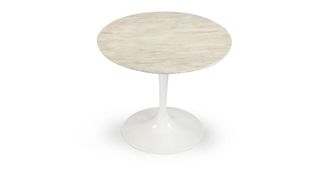 "Tulip Table, White Marble 48"" Round"