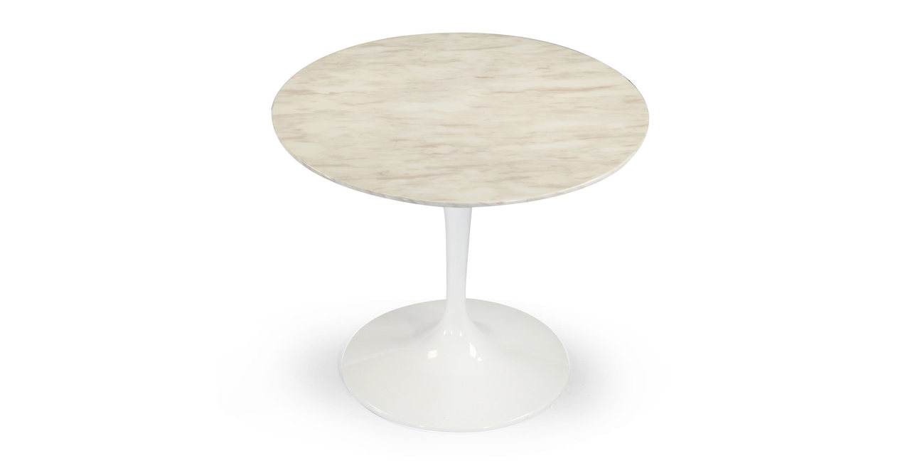 "Tulip Table, White Marble 44"" Round"