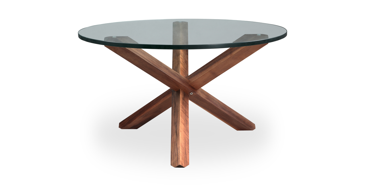 "Tripod 30"" Coffee Table, Walnut"