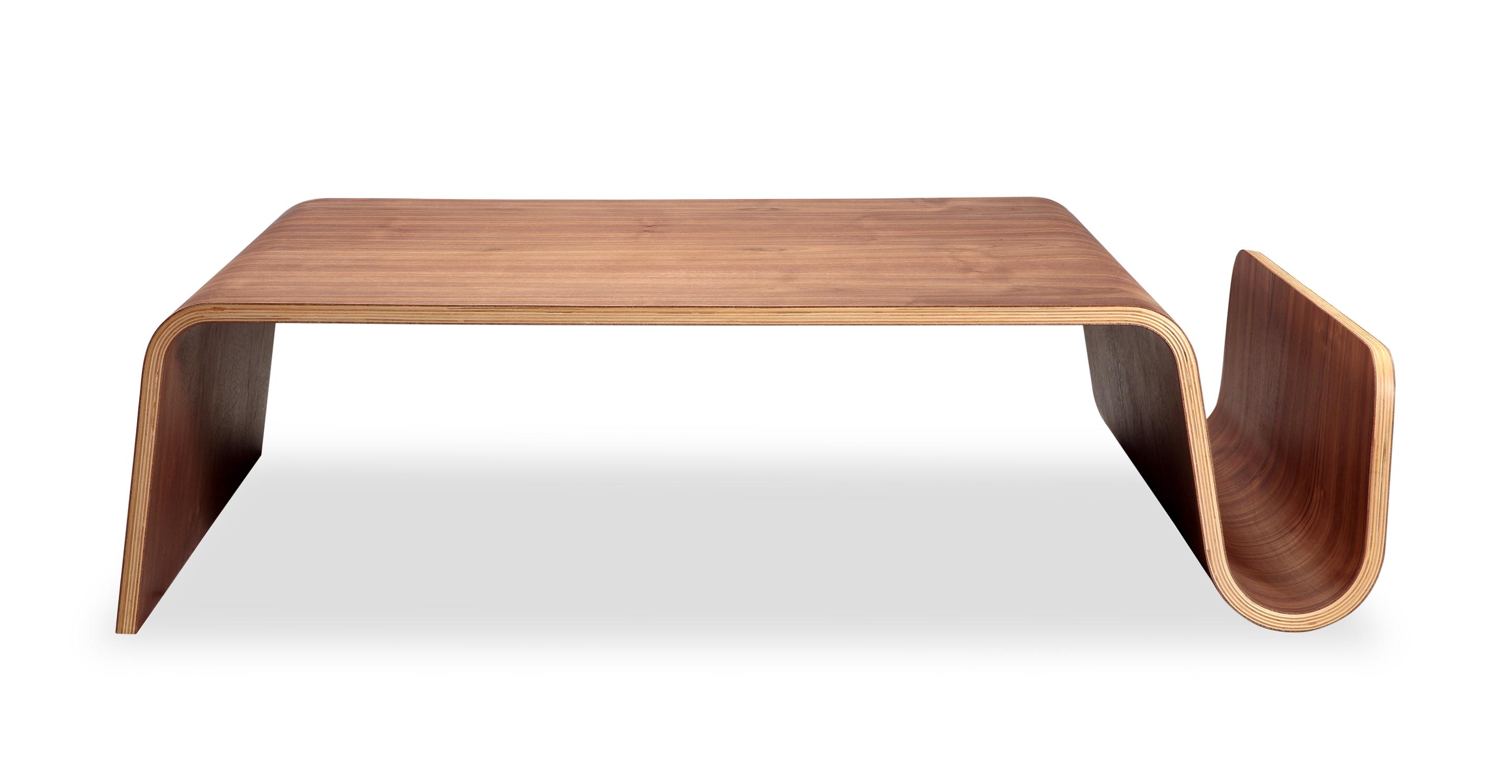"Scan 43"" Coffee Table, Walnut"