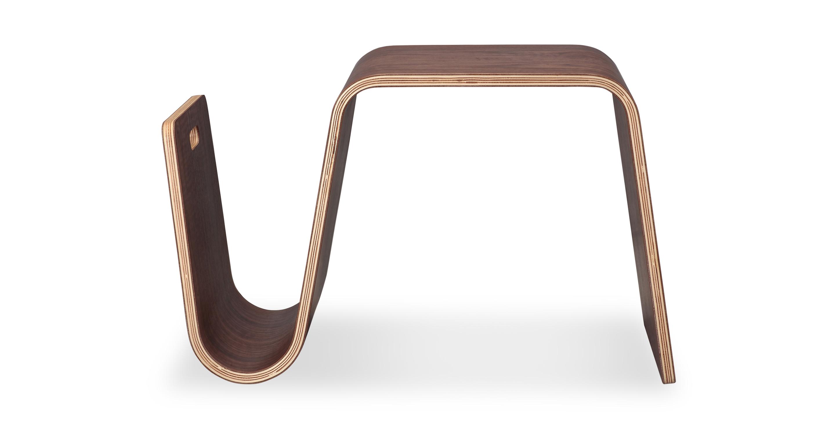 """Scan 25"""" Side Table, Walnut"""
