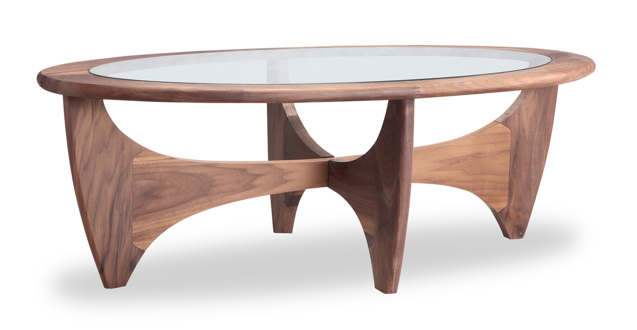 "G-Plan  48"" Coffee Table, Walnut"