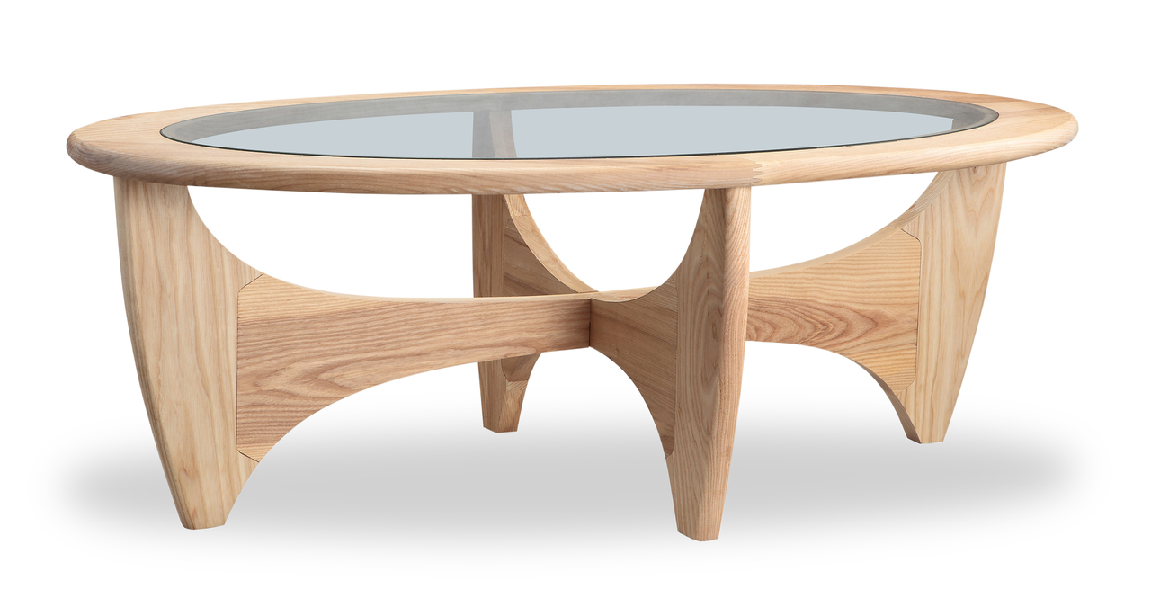 "G-Plan  48"" Coffee Table, Ash"