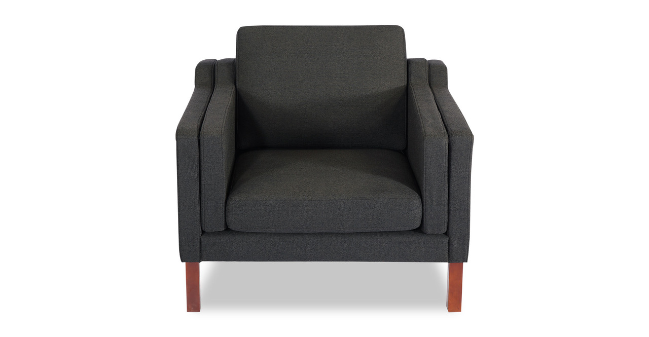 Monroe Chair, Chevron Grey